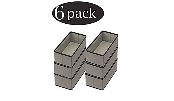 Tights Ybmhome Scarves,Ties Leggings Lingerie Gray with Black Trim 2451-3 YBM HOME Fabric Closet//Dresser Drawer Storage Foldable,Organizer 3, Large Bras Socks Cube Basket containers Bin for Underwear