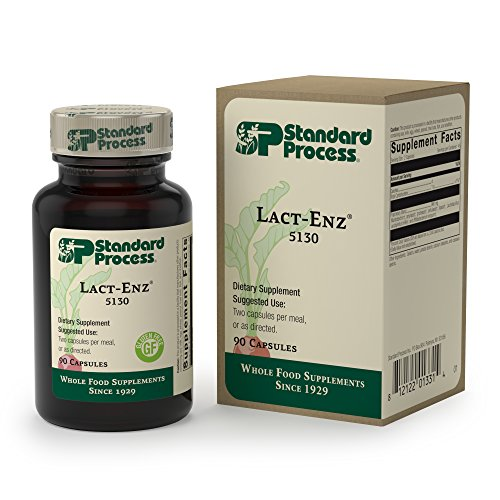 Digestion Immune System - Standard Process - Lact-ENZ - Digestive Enzyme and Probiotic Supplement, Supports Digestion and Immune System Function, Gluten Free - 90 Capsules