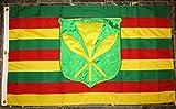 Embroidered Sewn Kanaka Maoli Hawaiian 600D Solarmax Nylon Flag 3'x5′ Feet Review