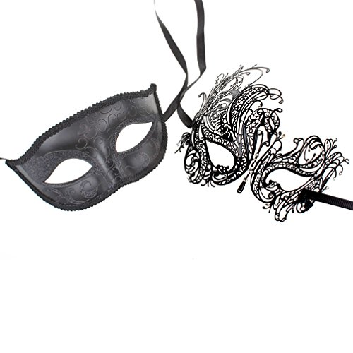 One Pair Couple's Gorgeous Venetian Masquerade Masks Party Costumes Accessory
