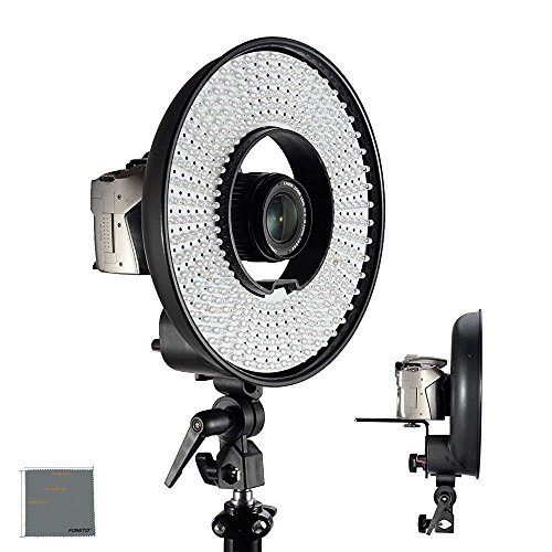 Fomito Falcon Eyes DVR-300 LED Ring Light 5500k Color temperature Photography Led Video Ring Light with Camera Bracket by Fomito