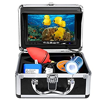 Image of Anysun Underwater Fish Finder - Professional Fishing Video Camera with 7' TFT Color LCD HD Monitor 700TVL, CCD 15M Cable Length with Carry Case - Fun to See Fish Biting Fish Finders & Depth Finders