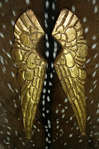 Home Decor Carved Wooden Antique Style Angel Wings Gold Gilt Leaf Distressed Wood Decor Perfect for Your Farmhouse
