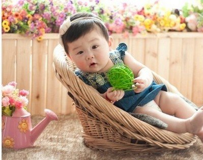 Newborn Baby Infant Studio Professional Photography Photo Posing Props Handmade Woven Basket D-15 by backdropshop (Image #1)