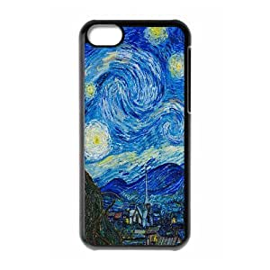 IPhone 5C Case the Starry Night, Sexyass, [Black]