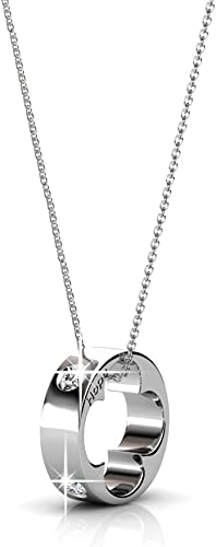 Girlfriend Chain with XXL Heart silver 925 Anniversary Silver Necklace with Pendant Romantic Necklace for Wife Gift for Wedding Day