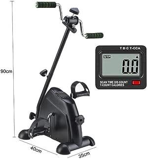 TIEHH Bicicleta estática Debajo del Escritorio Monitor LCD Piernas y Brazos Ejercitador Fitness Interior Bicicleta Recuperación de Brazos y Rodillas Ejercicio Ajustable para Personas Mayores: Amazon.es: Deportes y aire libre