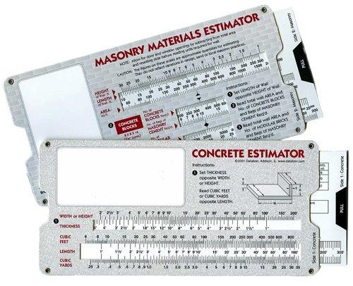 - Concrete & Masonry Materials Estimator - Slide Rule