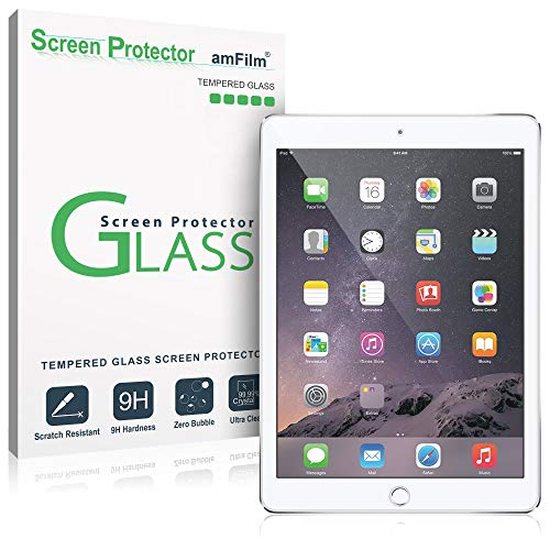 (amFilm Glass Screen Protector for iPad 9.7 6th Gen, 5th Gen, iPad Pro 9.7, iPad Air, Air 2, Tempered Glass, Apple Pencil Compatible)