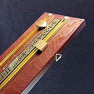 BALIKEN Brass and Mahogany Wall-Mounted Scoreboard International Stained Wood Score Board/Billiard Score Board
