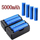 8PCS 18650 Battery 5000mah 3.7V Li-ion Rechargeable For Led Torch+Smart Charger(NOT AA Battery)