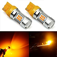 JDM ASTAR Extremely Bright PX Chipsets 7440 7441 T20 LED Bulbs ,Amber Yellow(Brightest Turn Signal Bulb on the Market)