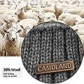 Winter Beanie w/Visor & Earflaps for Men Outdoor Fleece Hat Scarf Set