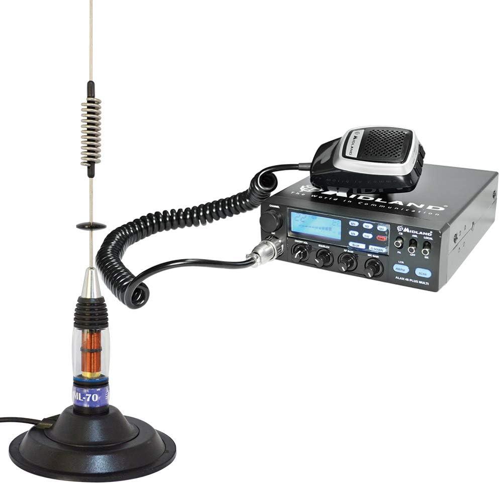 PNI Paquete Radio CB Midland Alan 48 Multi Plus B + Antena ...