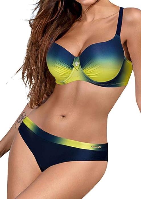 492a46bc8cee0 UMIPUBO Costumi da Bagno Push Up Imbottito Costumi da Mare Donna Due Pezzi  Bikini Sexy Spiaggia
