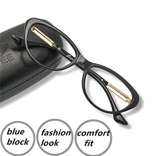 Computer Reading Glasses 6 Blue Light Blocking Office Gaming Screen Digital Reader Cateye Womens Protect Eyes Anti Glare Eye Strain Comfortable Fit - Non Reading Glasses Prescription Walmart