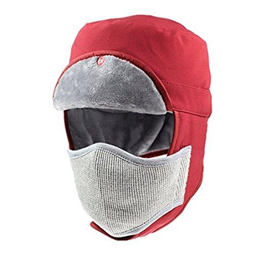恵みで出来ているタバコ(コネクタイル) Connectyle 飛行帽 メンズ 冬 防水 パイロットキャップ マスク 耳あて付き 帽子 暖かい トラッパーハット アウトドア スキー 帽子