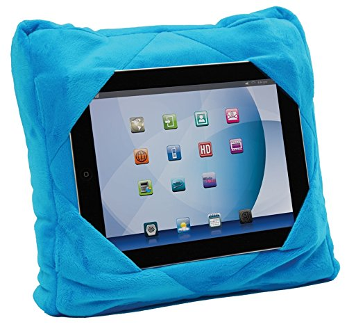 Price comparison product image Gogo Pillow - 3-in-1 Travel Pillow, Neck Pillow, Tablet Holder - Blue
