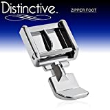 zipper foot singer - Distinctive Zipper Sewing Machine Presser Foot - Fits All Low Shank Snap-On Singer, Brother, Babylock, Euro-Pro, Janome, Kenmore, White, Juki, New Home, Simplicity, Elna and More!