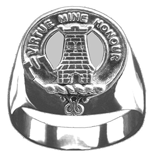 Scottish Clan Crest MacLean Ring GC100 Style - Clan Crest Ring