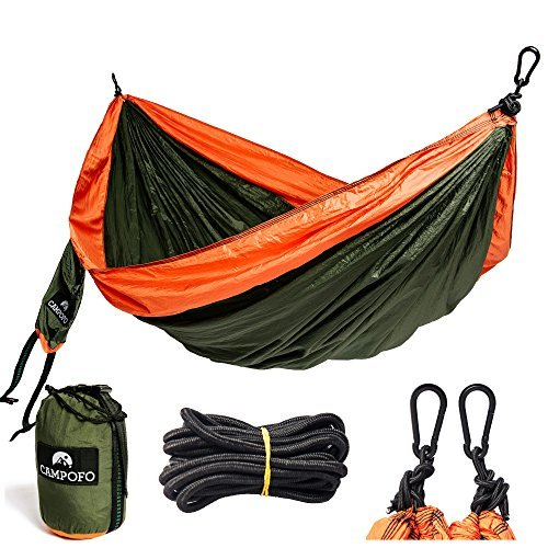 Double Camping Hammock, Perfect-Sized Parachute With Flexible Ropes, Lightweight, Portable, Premium-quality Fabric, An Ideal Companion For Multiple Activities: Camping, Traveling, Picnicking, Hiking. by Campofo
