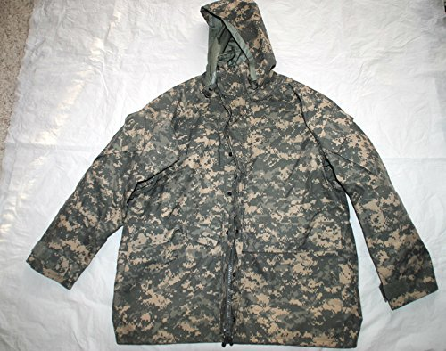 Us Army Issue Ecwcs Gore Tex Acu Digital Camouflage Cold Weather Parka - Large (Acu Cold Weather Parka)