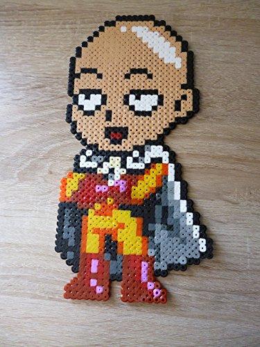 Sprite Saitama - One punch man - Hama Beads • Pixel Art • Perler bead]()