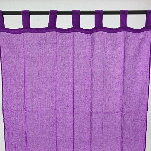 Thedecofactory United, 110 x 250 cm, Colore: Viola, Passanti, in Voile, Modello: 110206