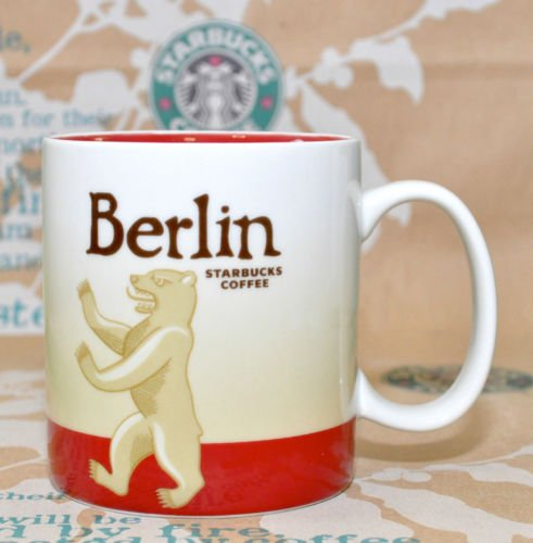 16fl oz 473ml Starbucks Coffee Collector Series Global Icon Berlin City Mugs tarbucks mug ceramic white MHNS