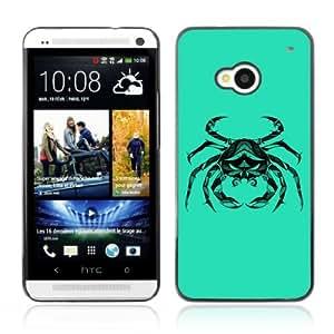 YOYOSHOP [Cool Crab Cancer Zodiac Tattoo] HTC One M7 Case by mcsharks