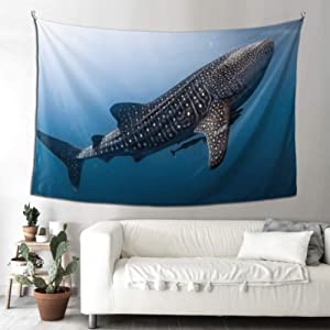WHIOFE Baby Wall Tapestry Philippine Whale Shark Tapestry Curtains Tapestry for Kids 90x60 Inches(229x152cm) Wall Hanging Art Home for Living Room Bedroom