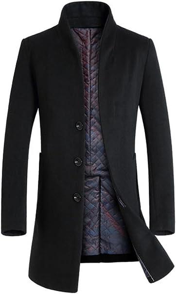 Amazon.com: Lavnis - Abrigo largo de mezcla de lana para ...