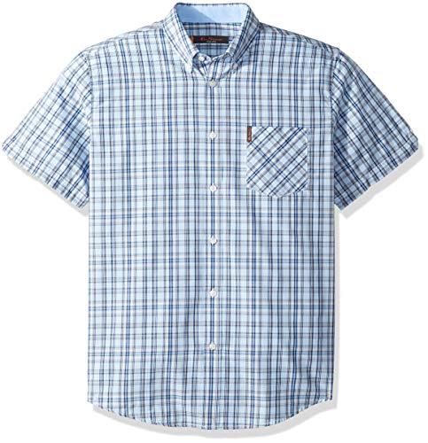 Ben Sherman Men's Variegated Check Shirt, Light Blue, Large