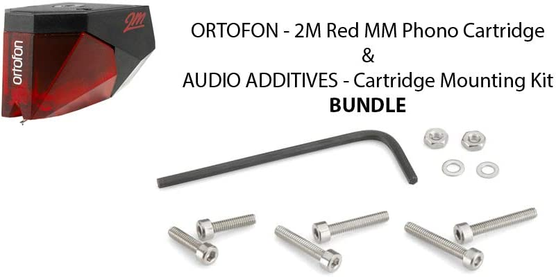 Ortofon - 2M Red MM Phono Cartridge & Audio Additives - Cartridge Mounting Kit BUNDLE