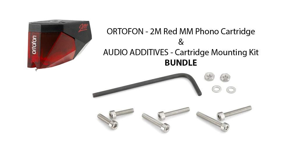 Ortofon - 2M Red MM Phono Cartridge & Audio Additives - Cartridge Mounting Kit BUNDLE by Ortofon & Audio Additives BUNDLE