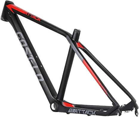 XC Pro montaña MTB Costelo ataque bicicleta de carbono marco de fibra de carbono UD Torayca 27.5er bicicleta 650B carbono MTB marco de la bici Talla:15 pulgadas: Amazon.es: Deportes y aire libre