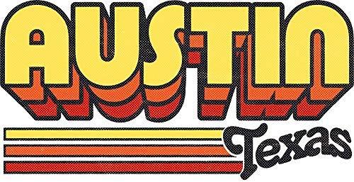 Austin, TX | City Stripes Sticker Decal Window Bumper Sticker Vinyl 5