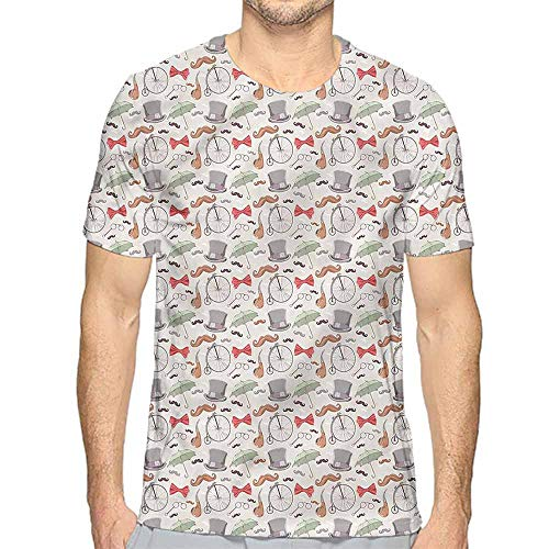 t Shirt Bicycle,40s Icons High Wheels Printed t Shirt XXL ()