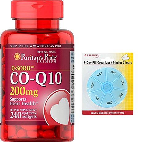 Amazon.com: Pride de Puritan Q-SORB Co Q-10 200 cápsulas de 240 mg de liberación rápida con gratis 7 días plástico píldora organizadores: Health & Personal ...