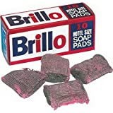 Disco Brillo Steel Pink Wool Soap Pad, 4 x 4 inch - 10 per pack - 12 packs per case.
