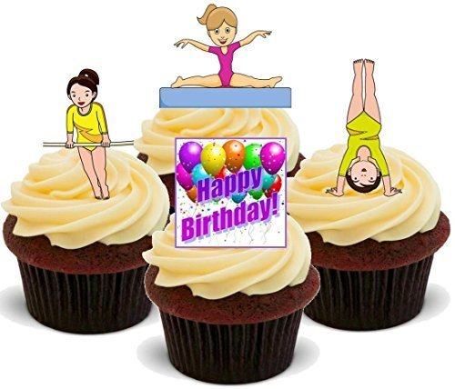 Gymnast Gymnastics Happy Birthday Girls Mix - Fun Novelty Bi