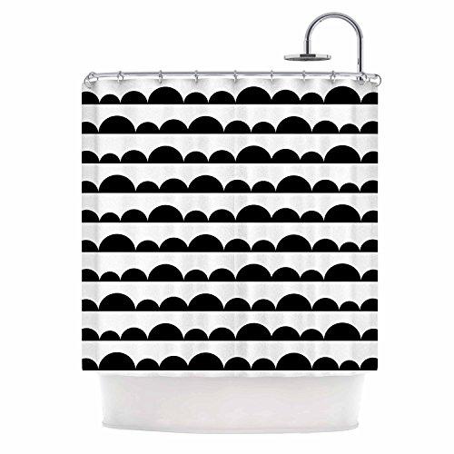 "Cheap KESS InHouse Trebam Neravan White Black Shower Curtain, 69"" x 70"" for cheap"