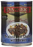 Evangers Braised Beef Chunks with Gravy – 12×13.2 oz, My Pet Supplies