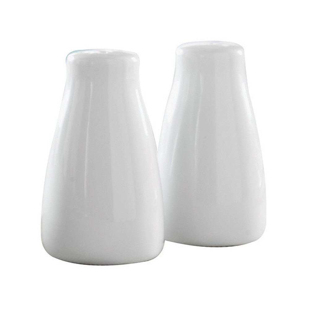 DEMA Simplicity Salt and Pepper Pots, White Rayware 0110.035