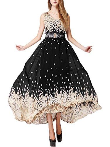 Print Chiffon Maxi Dress - 9