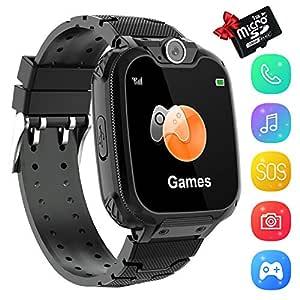 Smartwatch Phone Niños, Niños Reloj Inteligente con Reproductor de ...