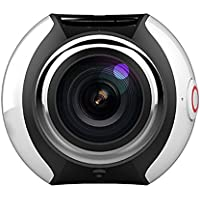 Shantan 4K Sport Action Camera DV Waterproof WIFI Mini 360 Ultra HD 3D VR Virtual Real Panorama Camera with Multiple APP Display Modes (White)