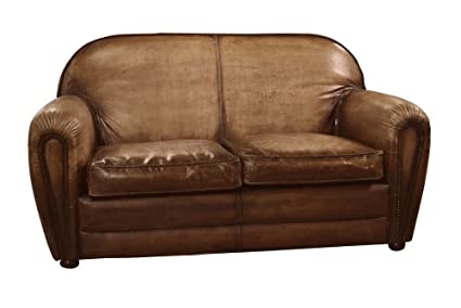 Pleasing Amazon Com Sofa Loveseat Antique Brown Buffalo Leather Inzonedesignstudio Interior Chair Design Inzonedesignstudiocom