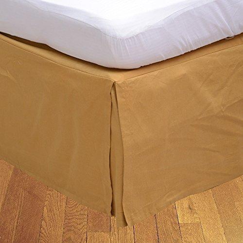 LaxLinens 350 fils cm², 100%  coton, finition élégante 1 jupe plissée de chute Longueur    18 cm lit Super King Taille), or massif