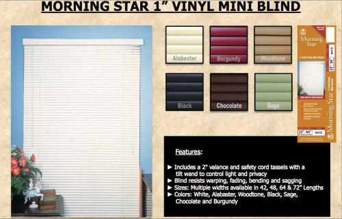 Red Mini Blinds - Achim Mini Blinds